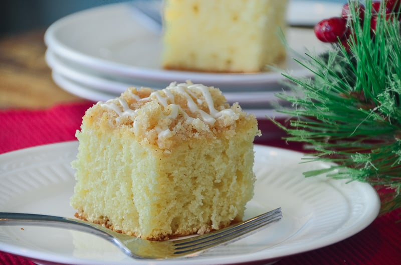 Brunch In A Breeze: Overnight Holiday Streusel Eggnog Coffee Cake That Will