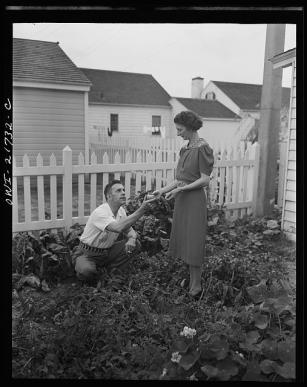 Mr. and Mrs. Babcock enjoy their garden and grow most of their own vegetables
