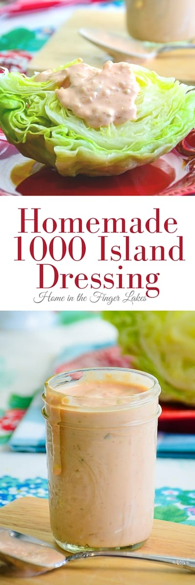 Luckily, making Homemade 1000 Island Dressing is easier than trying to unravel the rivalry between Alexandria Bay and Clayton over where it originated.