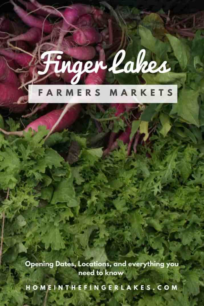 Opening Dates and everything you need to know about Finger Lakes Farmers Markets.