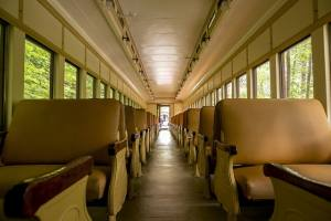 Inside the Catskills Mountain Railroad car