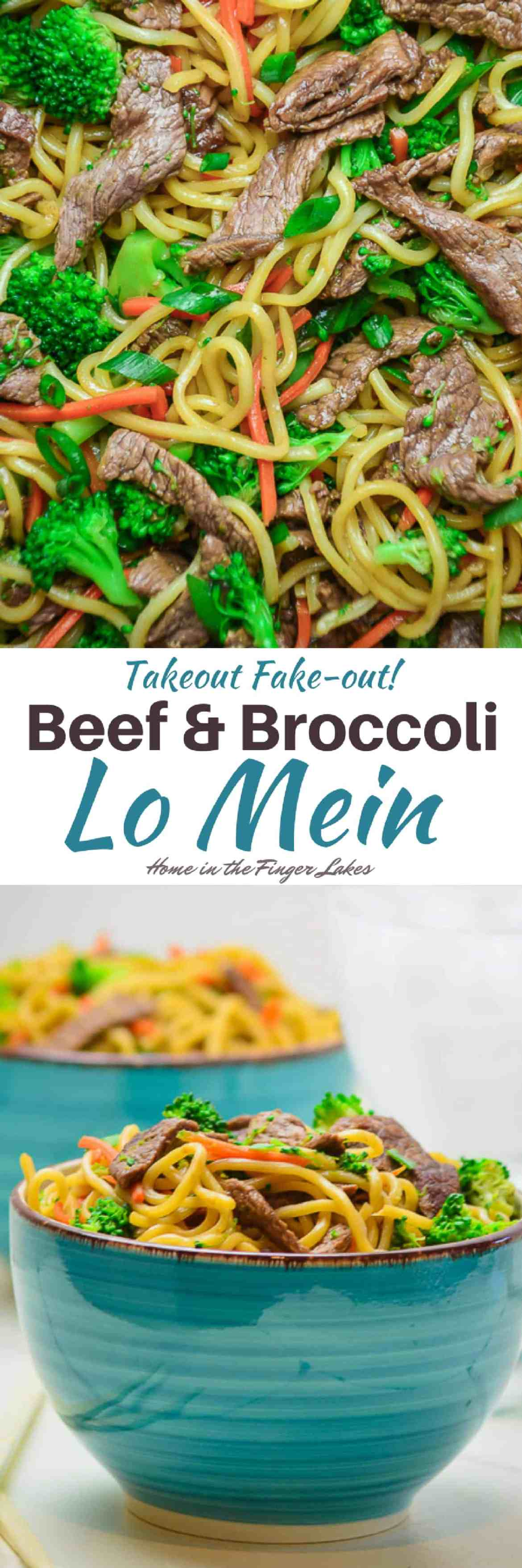 Dinner's on the table in 20 Minutes with this Beef and Broccoli Lo Mein. Tender Beef strips tossed with veggies and lo mein noodles in a flavorful sauce is the perfect weeknight meal.