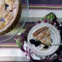 Blackberry Coffee Cake with Lemon Glaze