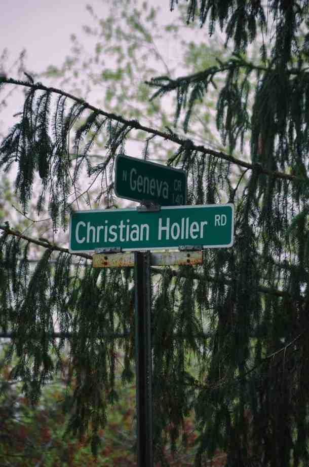 Christian Holler Road Street Sign in Wayne County New York.
