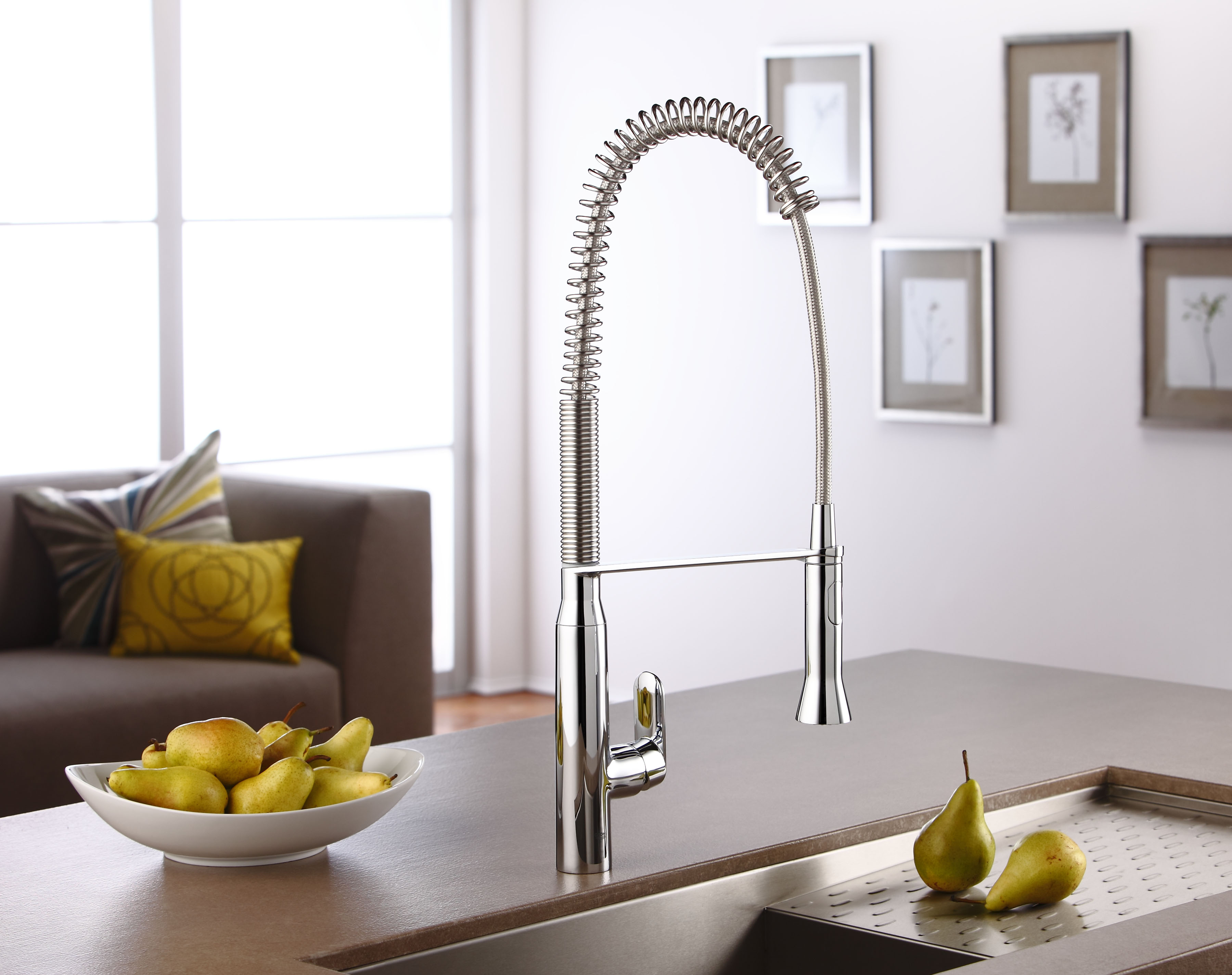 kitchen faucet with handspray cabinet doors glass fronts the grohe k7 will make you feel like a professional ...
