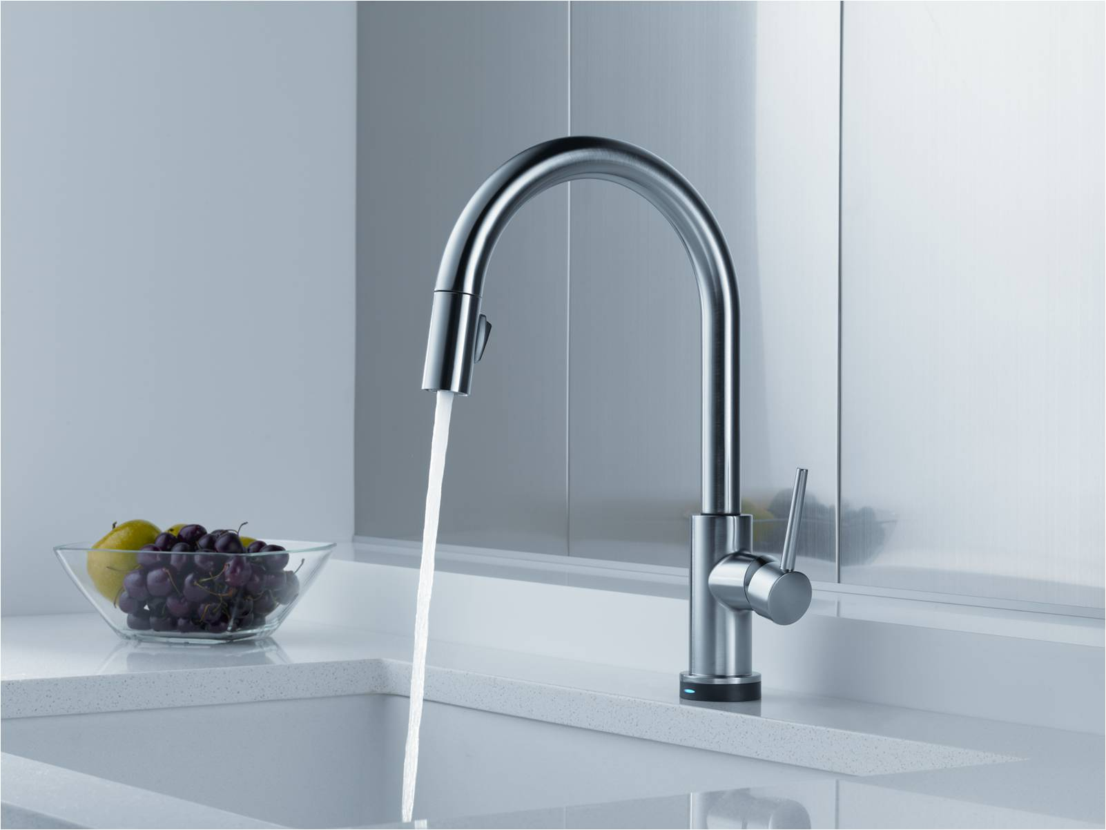delta trinsic kitchen faucet canisters the from is just begging to
