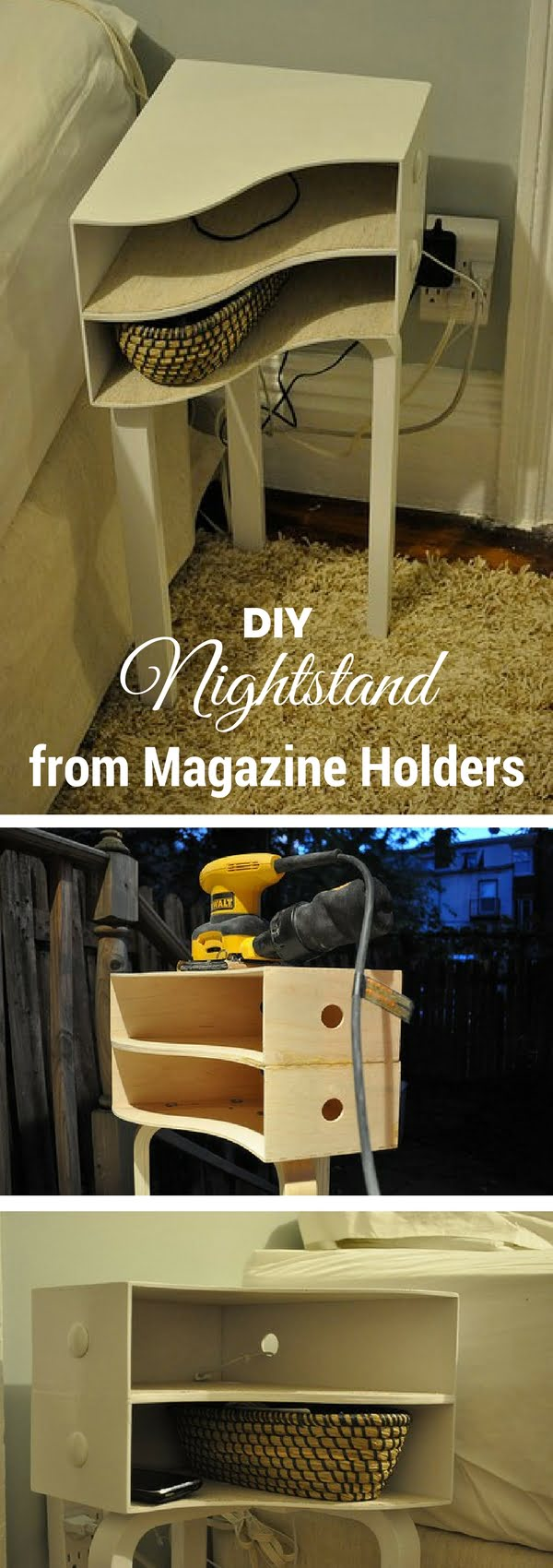 25 Easy Diy Nightstand Ideas That You Can Build On A Budget