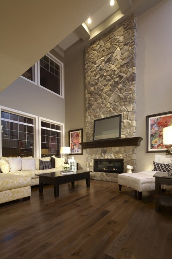 living room decor with hardwood floors cute ideas for apartments 35 gorgeous of dark wood that look amazing stone fireplace