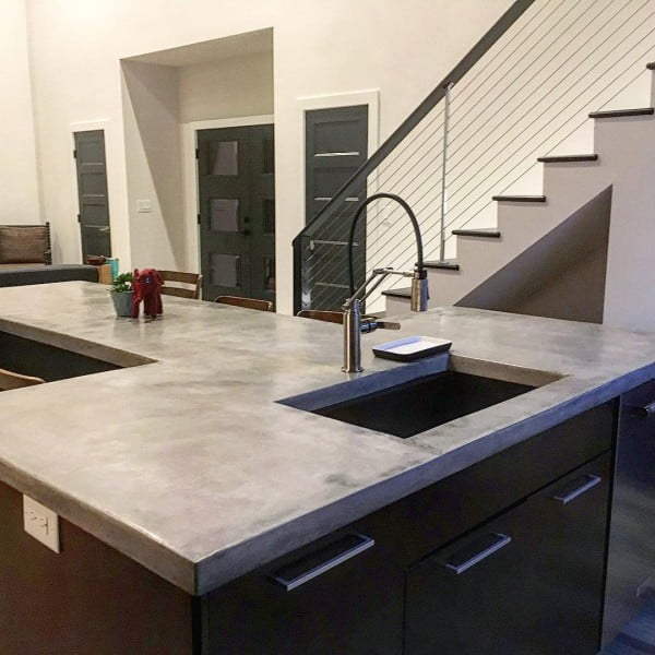 How Much Does A Concrete Countertop Cost Concrete Countertops In The Kitchen - Pros And Cons