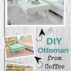 Living Room Ottoman Ideas Decorating With Gray Walls 40 Easy Diy You Can Make On A Budget From An Old Coffee Table Great Project Idea Check Out Other
