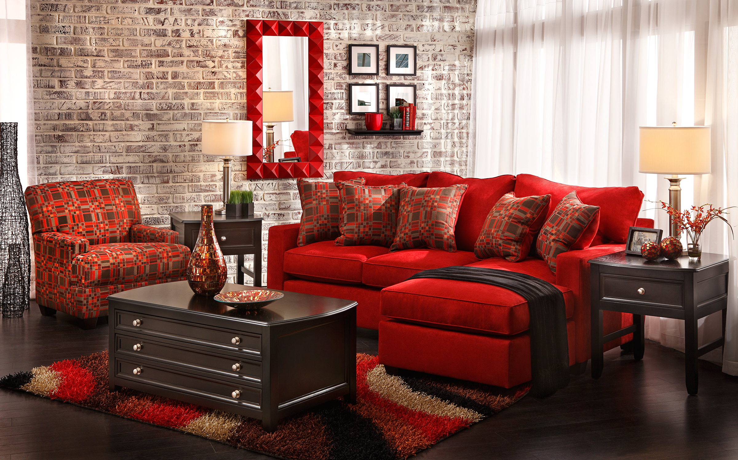 Red Living Room Chair Decorating Using Color At Home Home Is Here
