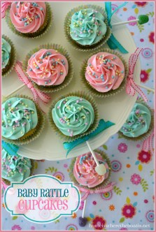 rattle cupcakes baby shower