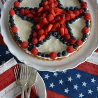 A Star-Spangled Fruit Tart for Independence Day