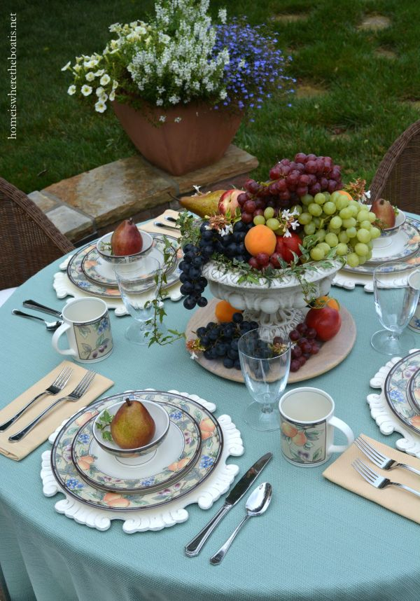 Table Harvest Of Fruit And Mikasa Garden