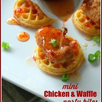 Mini Chicken and Waffles Party Bites