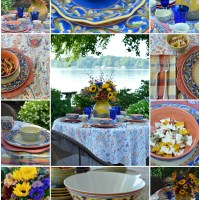 A Lakeside Table with Pfaltzgraff Villa della Luna Dinnerware