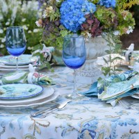 At the Table: Summer's Last Hurrah with Hydrangeas and Majolica