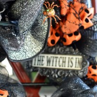 The Witch is In: DIY Halloween Wreath