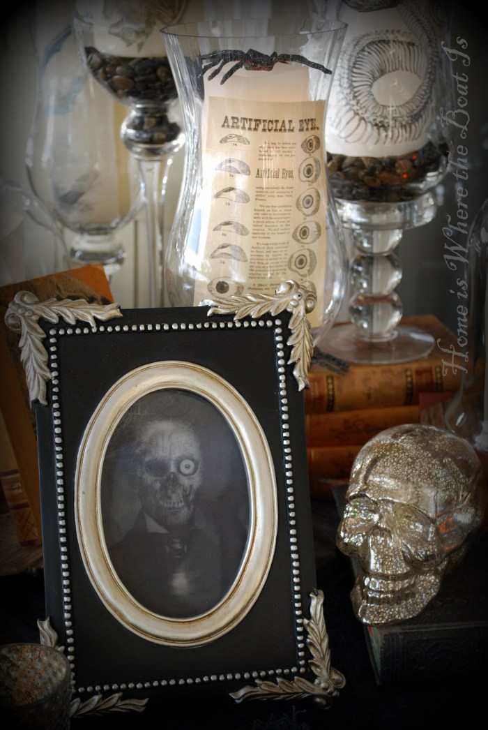 Cloche Encounters for All Hallows' Eve Tablescape | homeiswheretheboatis.net #halloween #tablescape