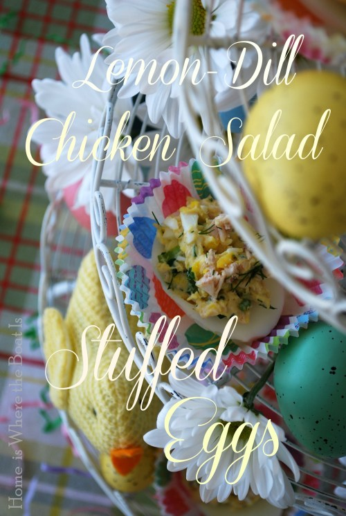 Lemon-Dill Chicken Salad Stuffed Eggs