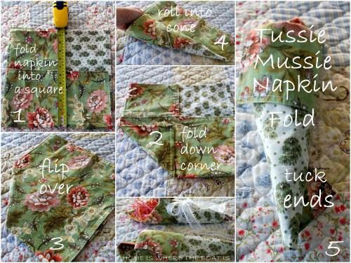 napkin fold tussie mussie-001