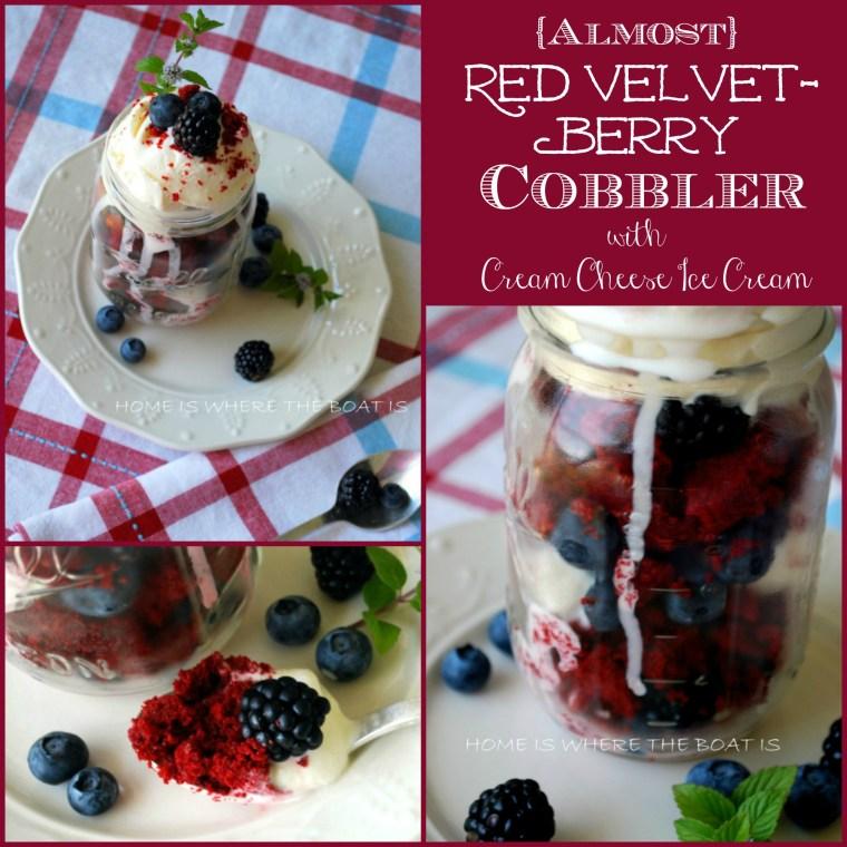 Almost Red Velvet Berry Cobbler