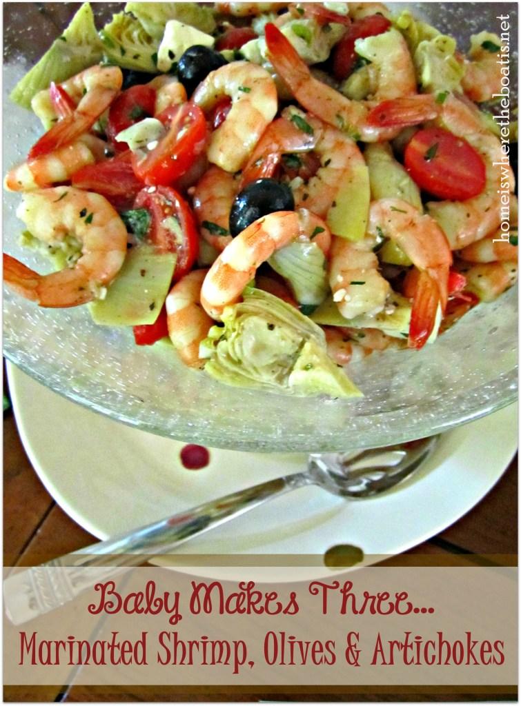 Marinated Shrimp, Olives & Artichokes