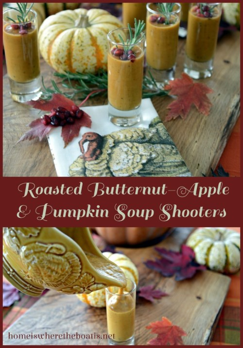 Roasted Butternut-Apple Pumpkin Soup Shooters