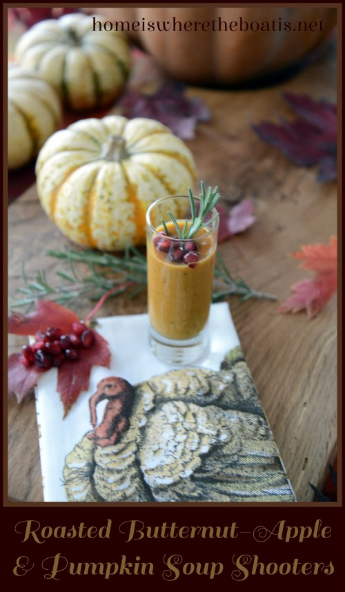 Roasted Butternut-Apple & Pumpkin Soup Shooters