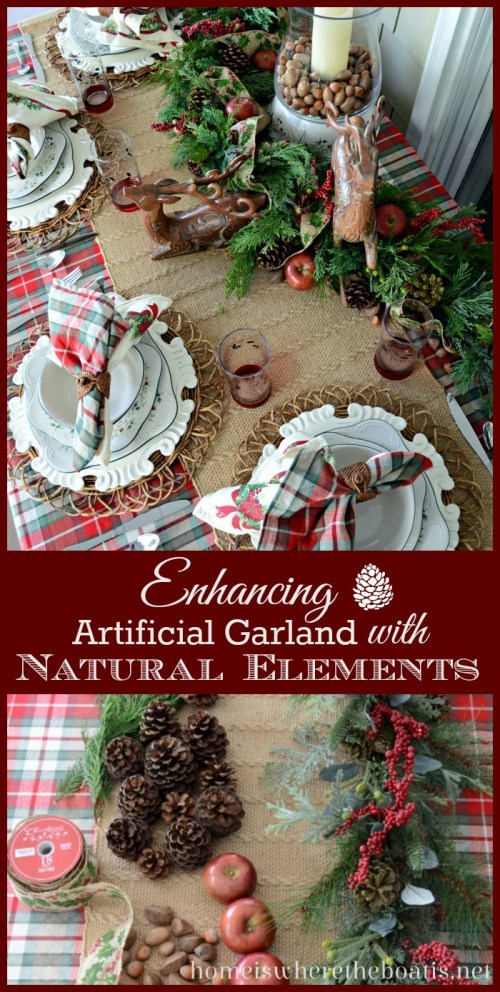 Enhancing Artificial Garland with Natural Elements