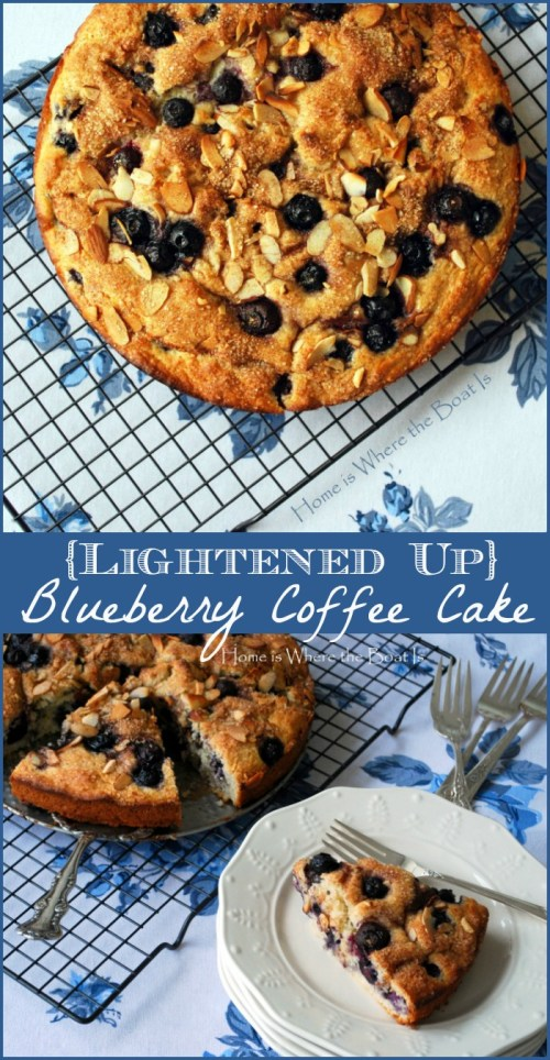 Lightened Up Blueberry Coffee Cake