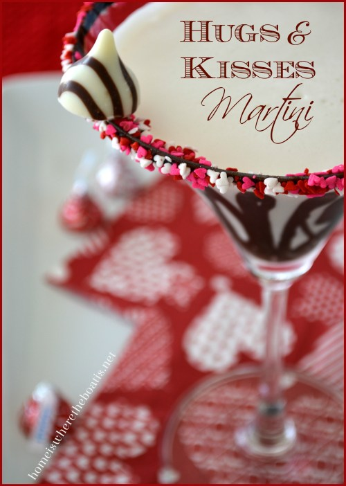 Valentine's Day Hugs & Kisses Martini
