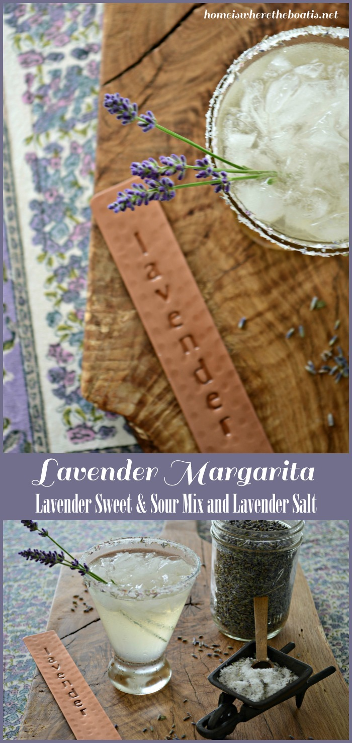 Lavender Margarita with Lavender Sweet and Sour Mix & Lavender Salt