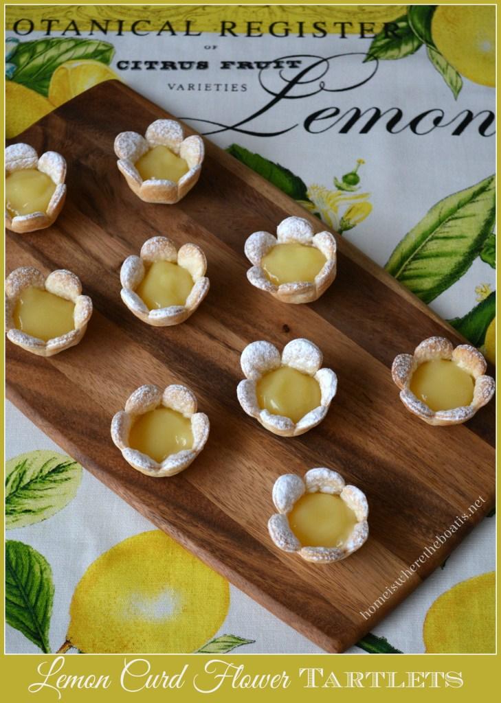 Lemon Curd Flower Tartlets