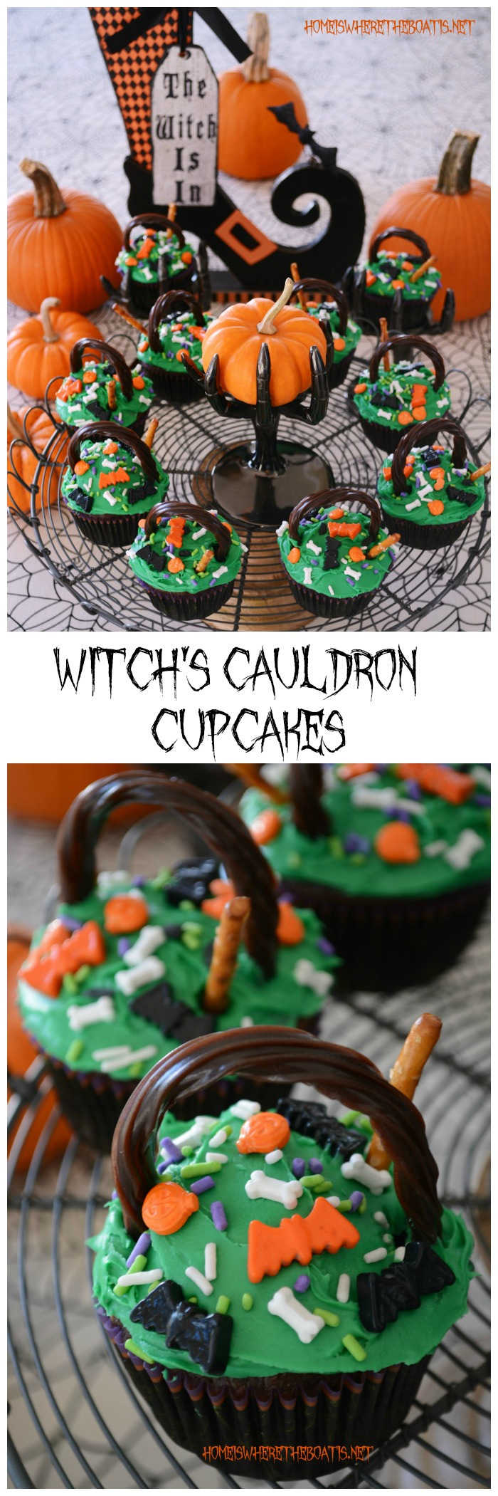 Halloween Witch's Cauldron Cupcakes