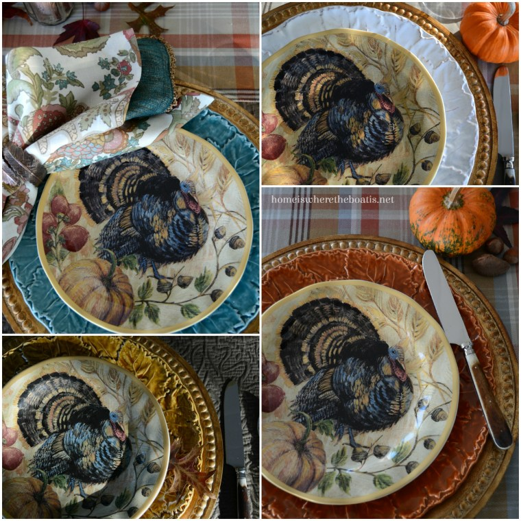 Thanksgiving Fresco Turkey Plates