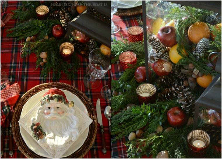 Santa Tartan Christmas Table