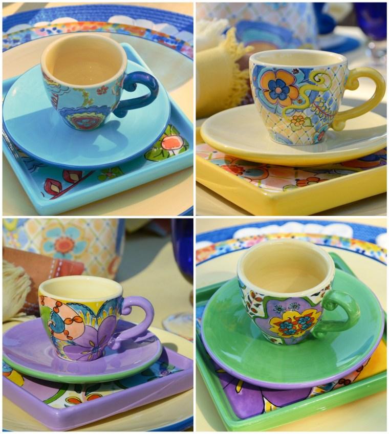 Pfaltzgraff Merisella Espresso Cups N Saucers