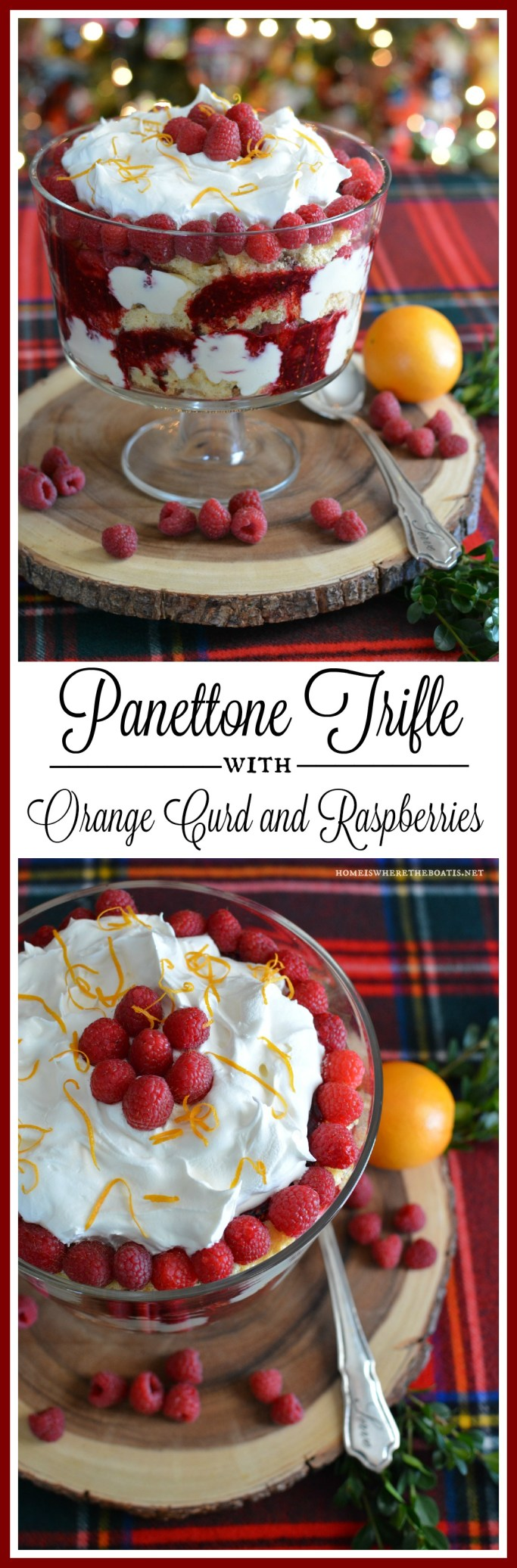 Panettone Trifle with Orange Curd and Raspberries