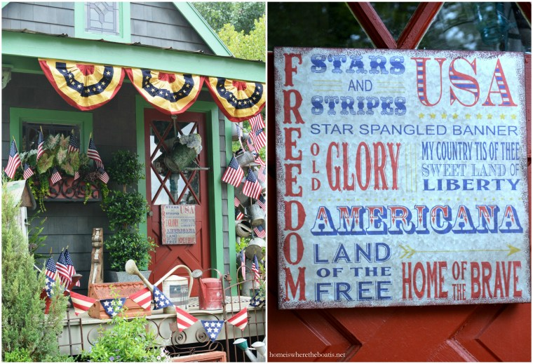 Patriotic Potting Shed