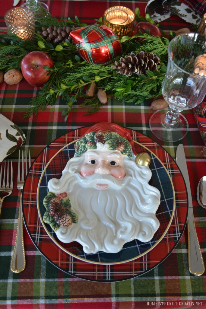 Plaid Tidings A Christmas Table With St Nick And A