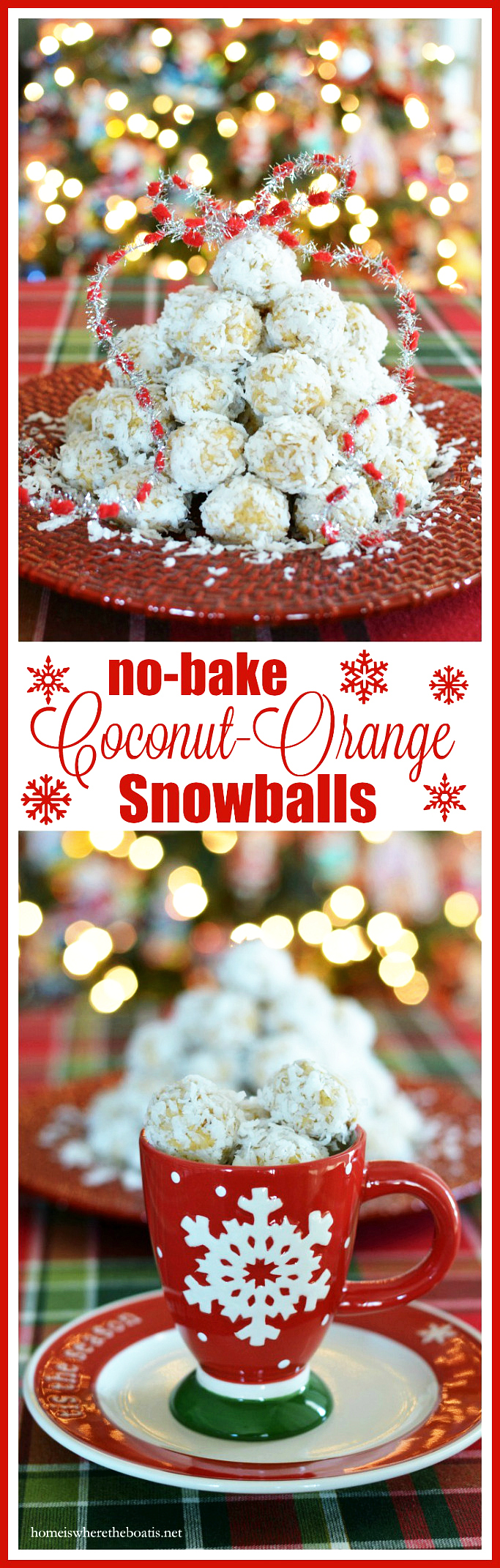 No-Bake Coconut Orange Snowballs | ©homeiswheretheboatis.net #cookies #nobake #recipes