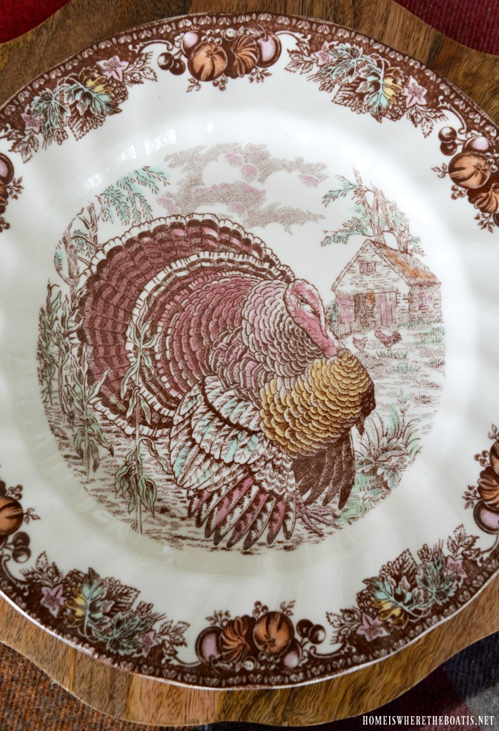 Turkey Natural Brown 13 x 13 Fused Glass Thanksgiving Decorative Plate