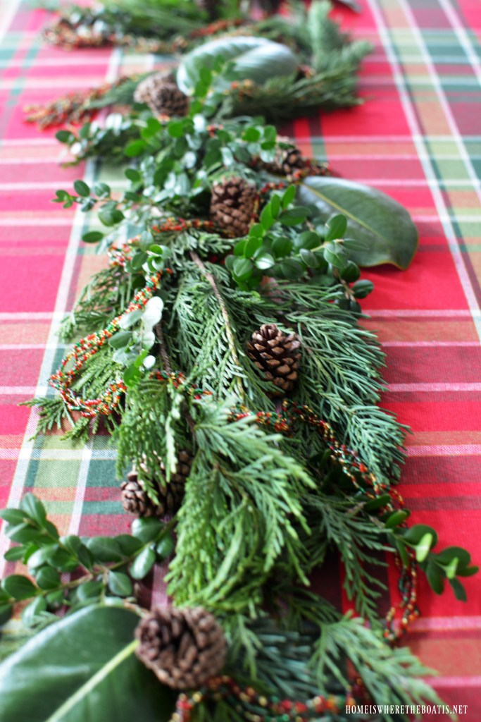 Diy Evergreen Table Runner Centerpiece The Easy Way Home Is Where The Boat Is