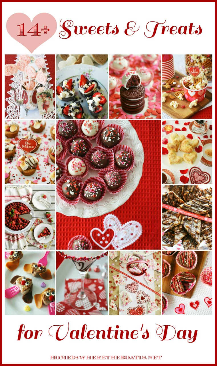 14+ Sweets & Treats for Valentine's Day | ©homeiswheretheboatis.net #ValentinesDay #recipes #nobake #cocktail #handpie #truffle