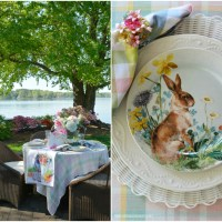 Lakeside Dining: Spring Table by the Azaleas