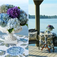 Dockside Dining with Butterflies and Hydrangeas