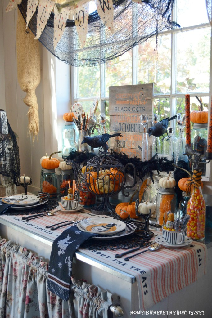 Witches Tea Party: It's All About the Treats! | ©homeiswheretheboatis.net #Halloween #PottingShed #witch #teaparty