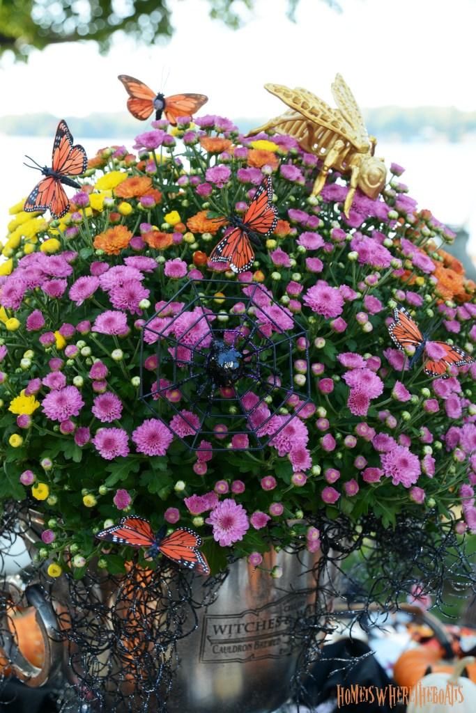 Hawthorne Gardens Wicked Beautiful Flowers Tablescape + Rib Tickling Fun | ©homeiswheretheboatis.net #halloween #tablescapes #garden