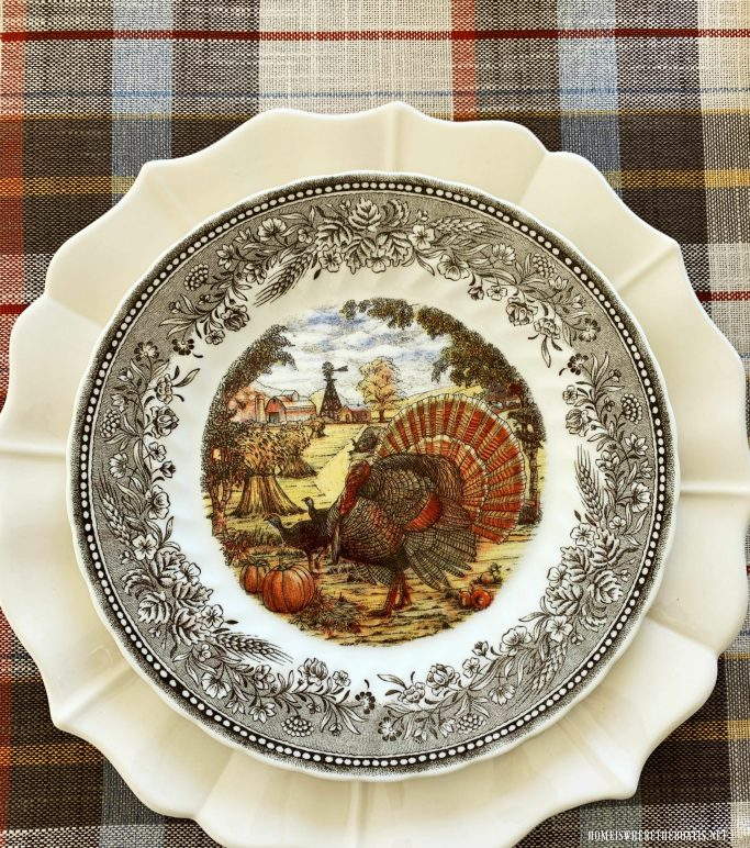 Royal Wessex by Churchill Turkey Plate Giveaway | ©homeiswheretheboatis.net #thanksgiving #tablescapes #turkey